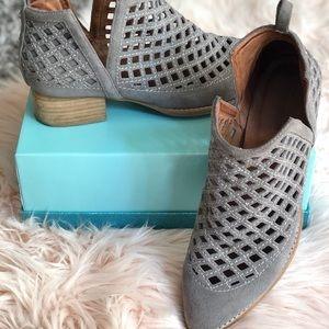 Jeffrey Campbell Gray Suede Ankle Boots